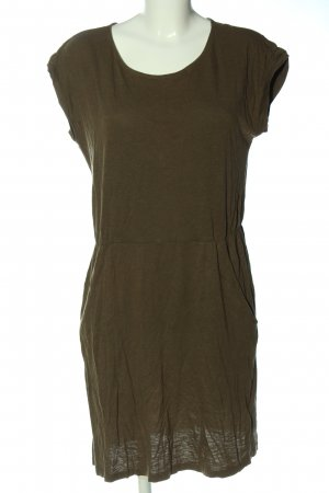 H&M Basic Kurzarmkleid khaki Casual-Look