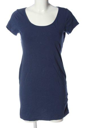 H&M Basic Kurzarmkleid blau Casual-Look