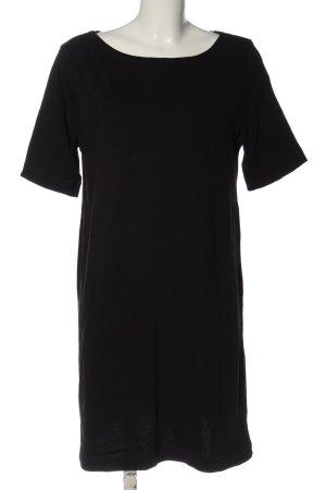 H&M Basic Kurzarmkleid schwarz Business-Look