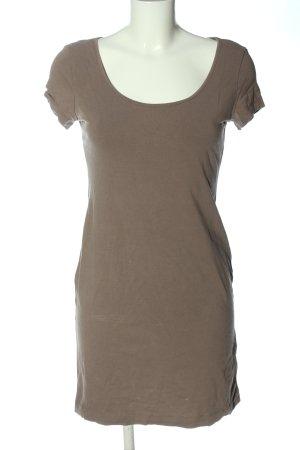 H&M Basic Kurzarmkleid braun Casual-Look