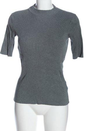 H&M Basic Sweter z krótkim rękawem jasnoszary W stylu casual