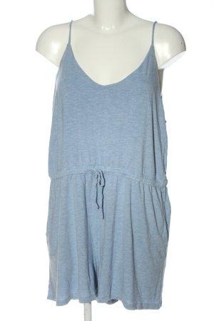 H&M Basic Kurzer Jumpsuit blau meliert Casual-Look