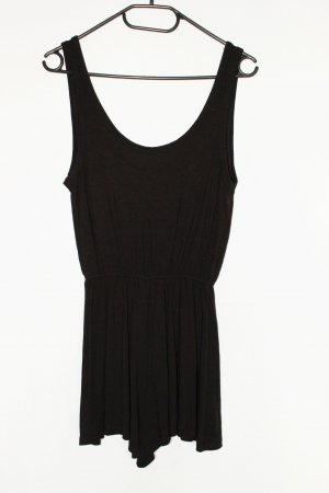 H&M Basic kurzer Playsuit Jumpsuit Damen schwarz Größe S