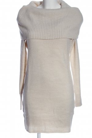 H&M Basic Langarmkleid creme Casual-Look