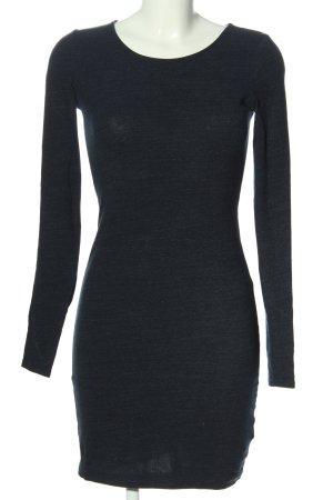 H&M Basic Langarmkleid blau Casual-Look