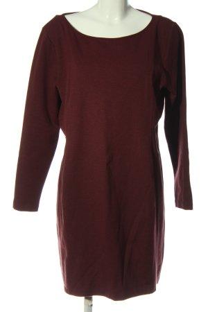 H&M Basic Langarmkleid rot Casual-Look