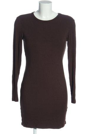 H&M Basic Langarmkleid braun Casual-Look