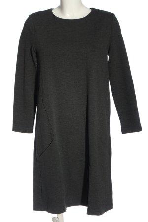 H&M Basic Langarmkleid hellgrau meliert Business-Look
