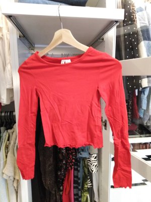 H&M Divided Cropped shirt rood