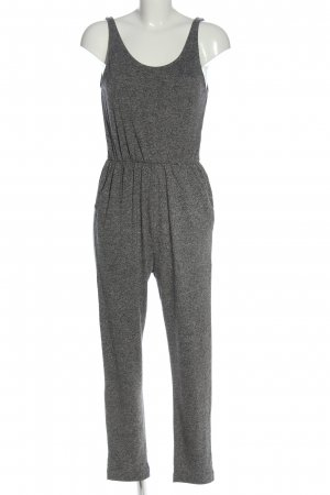H&M Basic Langer Jumpsuit hellgrau meliert Casual-Look