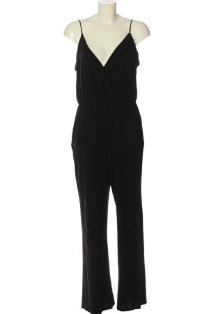 H&M Basic Langer Jumpsuit schwarz Casual-Look