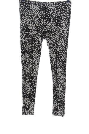 H&M Basic Leggings weiß-schwarz abstraktes Muster Casual-Look