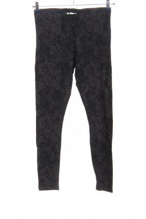 H&M Basic Leggings schwarz-hellgrau Mustermix Casual-Look