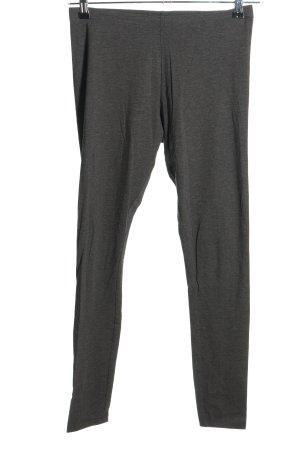 H&M Basic Leggings hellgrau meliert Casual-Look