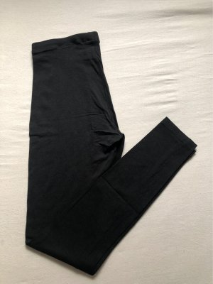 H&M Basic Leggings schwarz
