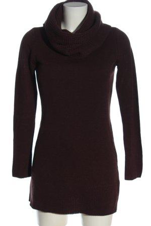 H&M Basic Lange jumper bruin casual uitstraling