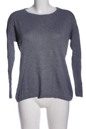 H&M Basic Longsleeve blau meliert Casual-Look