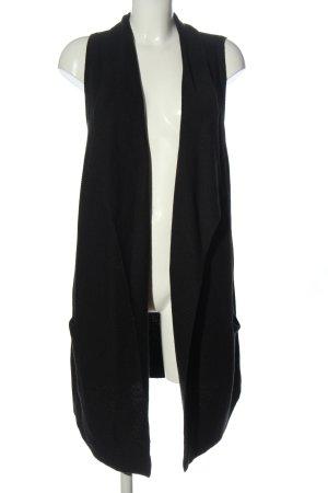 H&M Basic Długa dzianinowa kamizelka czarny W stylu casual
