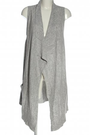 H&M Basic Long Knitted Vest light grey flecked casual look