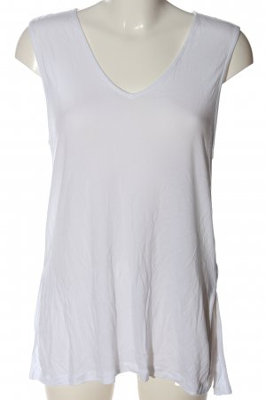 H&M Basic Longtop weiß Casual-Look