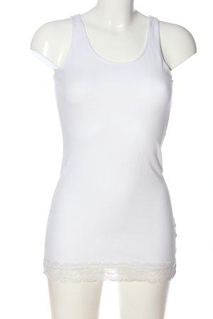 H&M Basic Top long blanc style décontracté