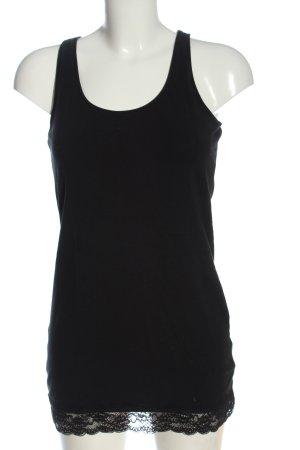 H&M Basic Long Top black casual look
