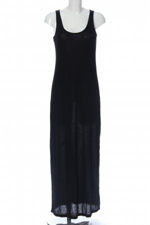 H&M Basic Maxikleid schwarz Casual-Look