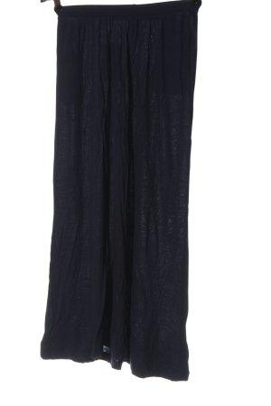 H&M Basic Midirock blau Casual-Look