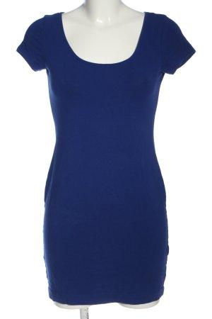 H&M Basic Minikleid blau Casual-Look