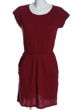 H&M Basic Minikleid rot Casual-Look