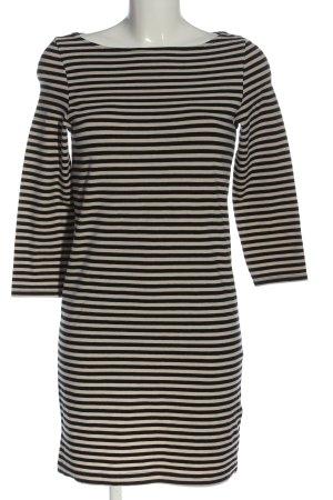 H&M Basic Minikleid wollweiß-schwarz Allover-Druck Casual-Look