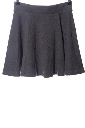 H&M Basic Minirock hellgrau meliert Casual-Look