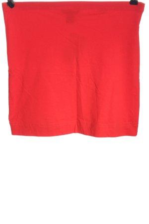 H&M Basic Minirock rot Casual-Look