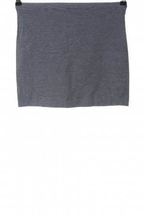 H&M Basic Minirock blau meliert Casual-Look