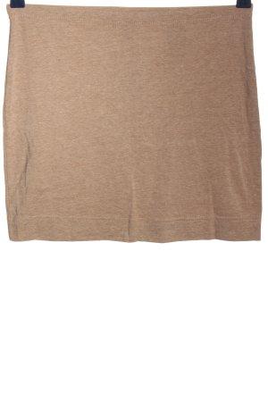 H&M Basic Minirock braun meliert Casual-Look