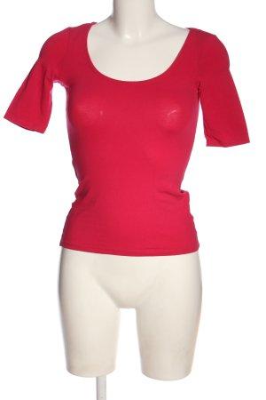 H&M Basic Koszulka o kroju podkreślającym sylwetkę różowy Elegancki