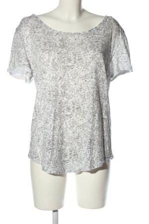 H&M Basic Oversized Shirt white-black allover print casual look