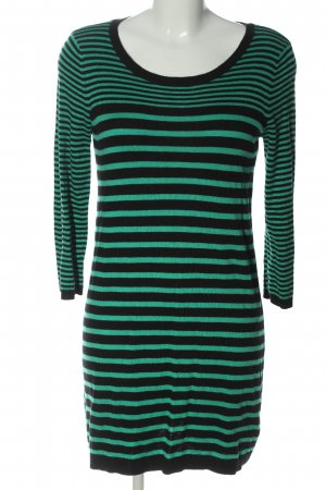 H&M Basic Sweater Dress green-black allover print casual look