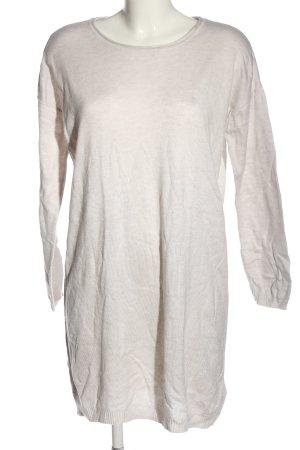H&M Basic Abito maglione bianco sporco puntinato stile casual