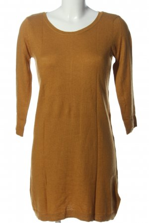 H&M Basic Sweater Dress light orange cable stitch casual look