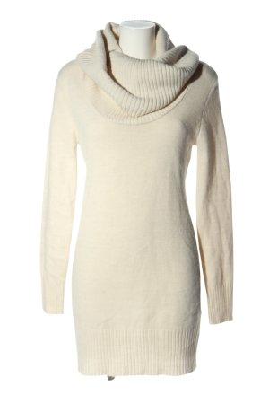 H&M Basic Swetrowa sukienka w kolorze białej wełny W stylu casual