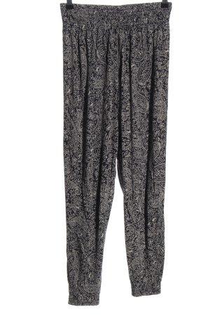 H&M Basic Flodderbroek zwart-wolwit volledige print casual uitstraling