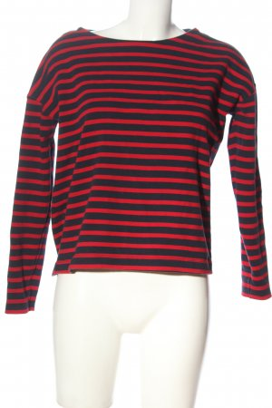 H&M Basic Stripe Shirt black-red allover print casual look