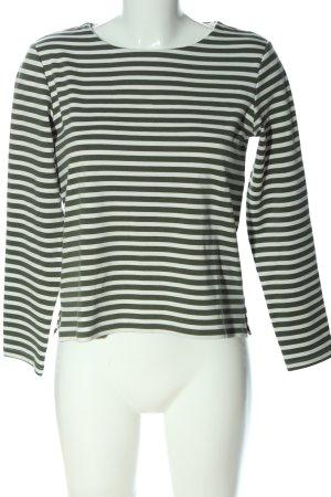 H&M Basic Stripe Shirt white-green allover print casual look
