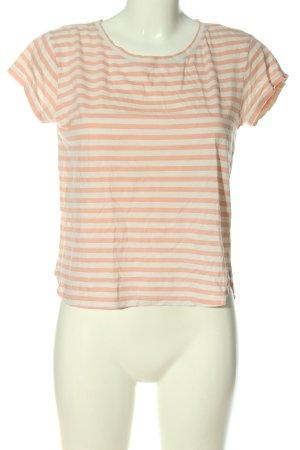 H&M Basic Koszulka w paski nude-w kolorze białej wełny Wzór w paski