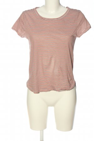 H&M Basic Ringelshirt rot-weiß Allover-Druck Casual-Look