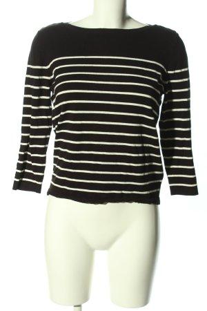 H&M Basic Stripe Shirt black-white striped pattern casual look