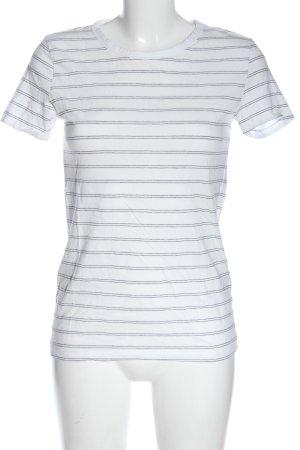 H&M Basic Ringelshirt weiß-schwarz Allover-Druck Casual-Look