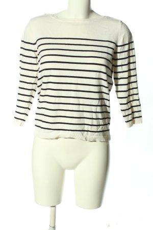 H&M Basic Stripe Shirt natural white-black striped pattern casual look