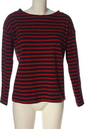 H&M Basic Koszulka w paski czarny-czerwony Wzór w paski W stylu casual